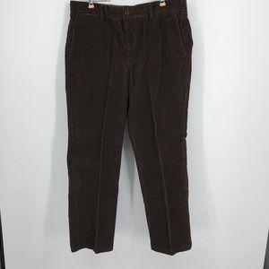 Men's Brown D1 Corduroy Dockers. Size 36 x 29
